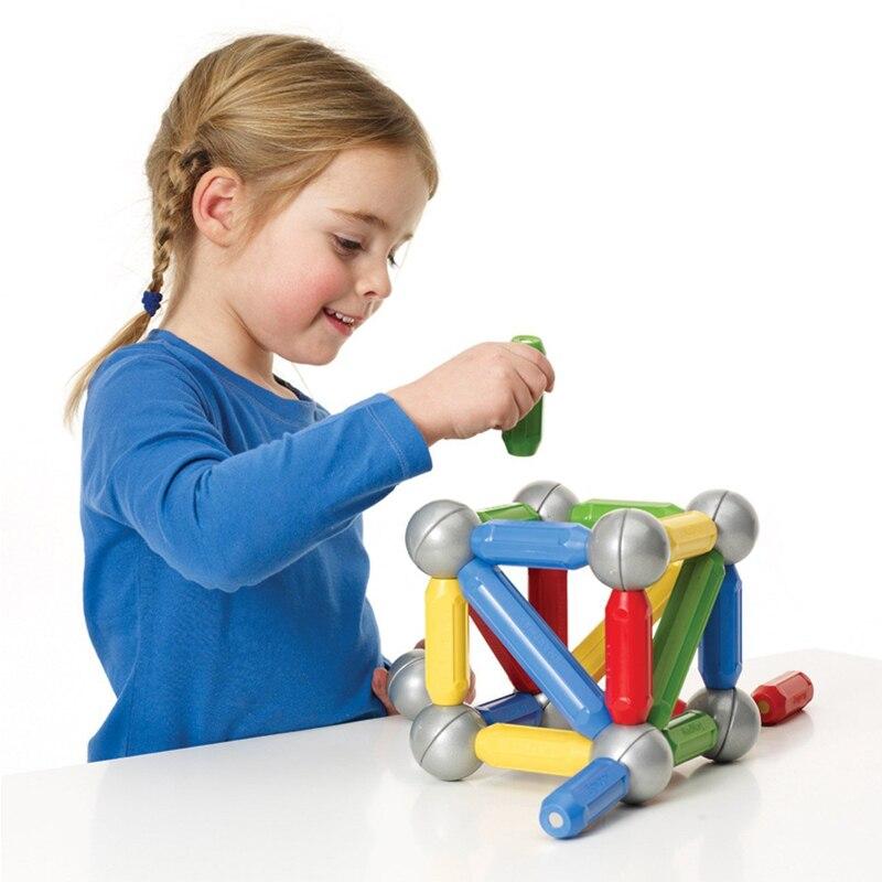 42pcs Magnet Toy Bars & Plastic Balls Magnetic Building Blocks Construction Toys For Children DIY Designer Boy Educational Toys