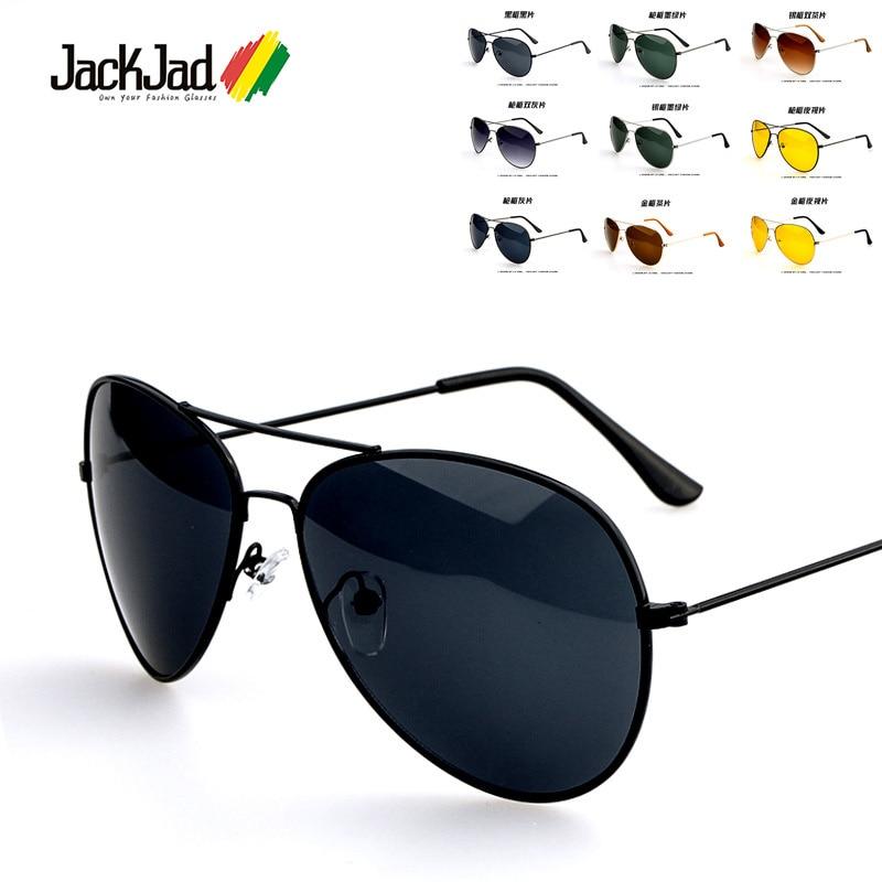 JackJad Fashion 3025 Aviat Style Driving Sunglasses Men Women Classic Vintage Metal Frame Sun Glasses Oculos De Sol Masculino