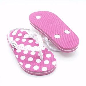 Image 4 - 2020 yaz çocuk Flip flop pembe nokta Antiskid sandalet yumuşak rahat erkek kız terlik plaj çocuk ayakkabı