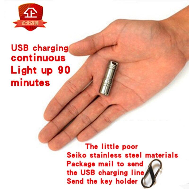 Мини-фонарик USB зарядки EDC ультра-маленькая рука легкий портативный 10180 миниатюрный карман сбоку по фонарик jaxmnve M1