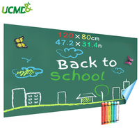 120 x 80 cm Self adhesive Magnetic Chalkboard Wall Sticker for Kids Room Decoration Hold Magnets Learning Writing Drawing Board