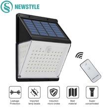 88 LED 태양 전원 램프 PIR 모션 센서 태양 빛 방수 야외 마당 거리 정원 벽 램프 원격 제어
