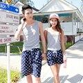 Aliexpress alta ventas pantalones pareja playa de luna de miel por el sea beach pantalones hombres playa pantalones sweethearts outfit