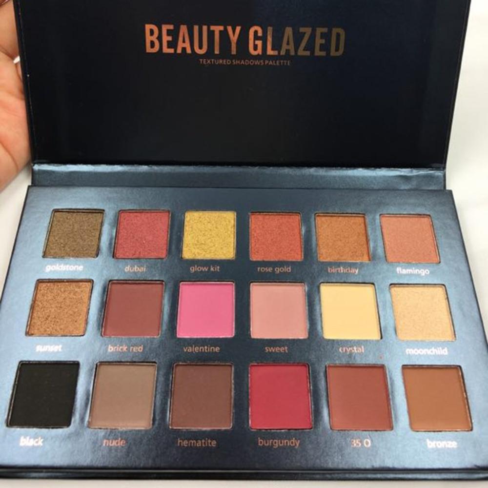 Back To Search Resultsbeauty & Health Beauty Glazed 18 Color Eyeshadow Palette Glamorous Smokey Eye Shadow Shimmer Makeup Kit Makeup Palette Shimme Professional Long