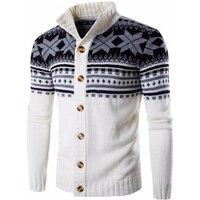 Men Sweater 2017 Brand Cardigan Casual Sweater Male Collar Folk Custom Slim Fit Knitting Mens Sweaters Man Cardigan Men XXL QXXA