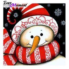 Ever Moment Diamond Painting Cross Stitch Snowman Christmas Red Hat Full Square Diamond DIY 5D Mosaic Needlework crafts ASF977