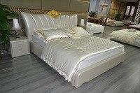 Cabecero Cama Bedroom Furniture Modern Bedroom Furniture Soft Bed Time limited Direct Selling King No Genuine Leather Sofa Beds