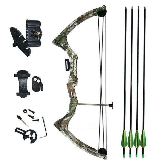 Youth Compound Bow 20lbs Draw Weight For Human Outdoor Hunting
