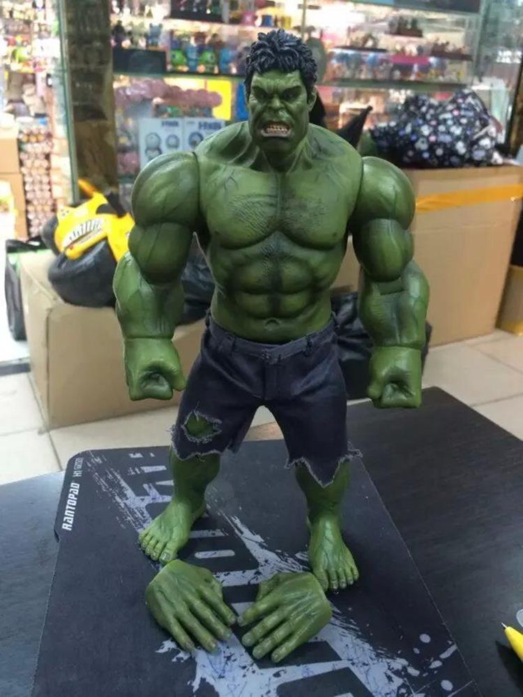 Marvel The Avengers Hulk Super Heroes 1/6 Scale Pants can be taken off PVC Action Figure collectible Model Toys 26cm KT1332 bela 10241 super heroes avengers hulk lab smash set with taskmaster falcon hulk thor turret robot modok action figure toys