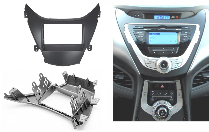 For HYUNDAI Elantra Avante Radio CD DVD Audio Panel Dash Mount Trim Refitting Kit  Fascia Face Surround Frame Bezel Double Din 0