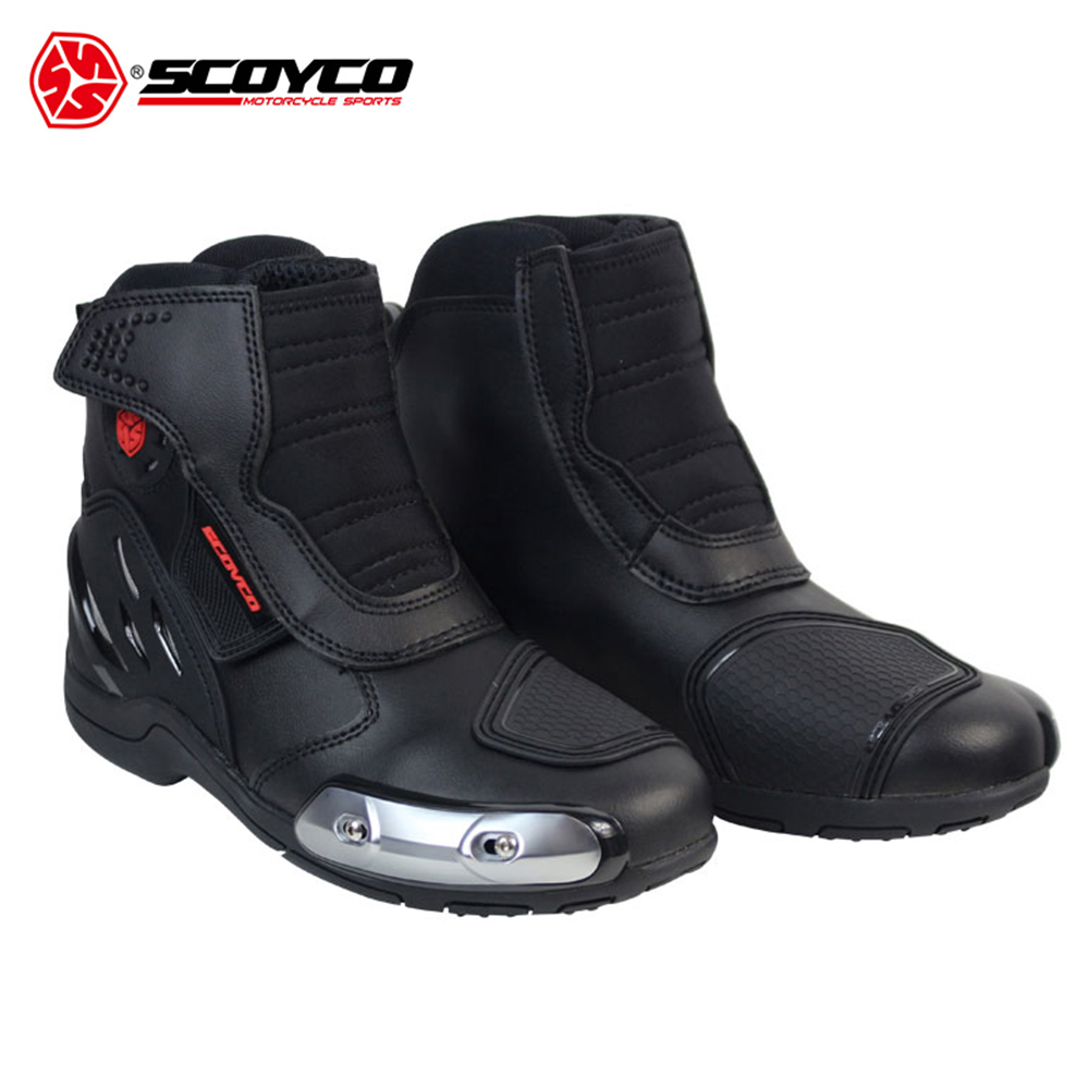SCOYCO Motorcycle Boots Leather Motocross Off-Road Racing Boots Motorbike Riding Sport Road SPEED Professional Botas Moto Shoes riding tribe motorcycle waterproof boots pu leather rain botas racing professional speed racing botte motorcross motorbike boots
