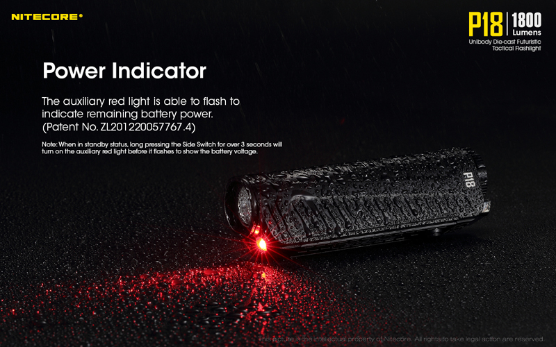 1800 Lumens Nitecore P18 Tactical Flashlight (12)