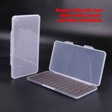 2 Pieces 185*103*13mm Easy-grip Foam Fly Fishing Box Clear Slim Hook Box Fly Fox