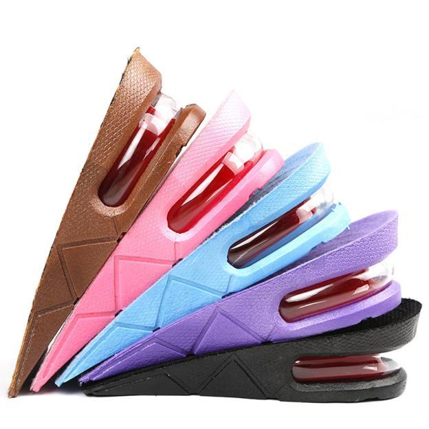 Men Women Shoe Insole Air Cushion Adjustable Heel insert Increase Lift Heel Inserts Higher Shoes Pads Layer Taller 5cm/2inch yellow pu women wedge heels open toe platform sandals women ankle wrap summer platform ankle women casual shoes ladies