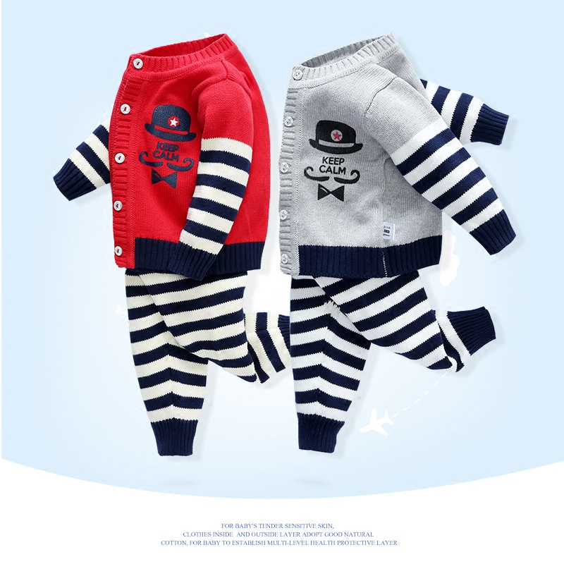 New arrival autumn newborn baby girl boy clothes suits cartoon cardigan knitting coat+long pants infant baby clothing sets 2pcs sirdar snuggly double knitting baby cardigan pattern