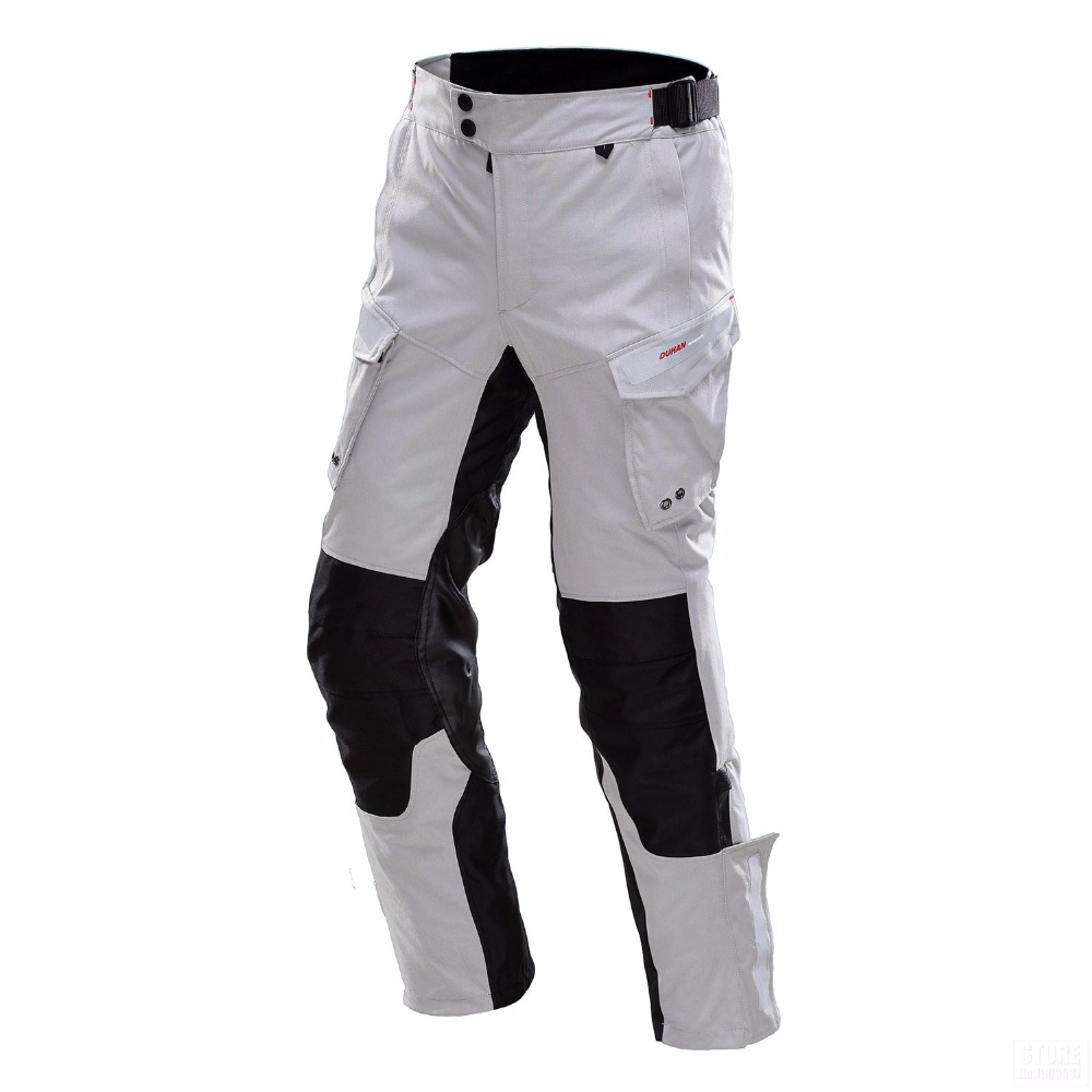 DUHAN Professional Men Motorbike Trousers Waterproof RainProof Men's Motorcycle Hip Protector Touring Venture Motorcycle Pants