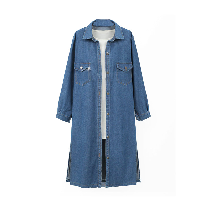 Longues Plus Manches Manteau Femme Veste 4xl Manche Vintage Slim À Mode Longue La Femmes Bleu Denim Femelle Jeans Taille Automne Survêtement x4xqFngvw