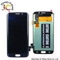 Для Samsung Galaxy S6 Edge G925 G925f G920V G920A G920T ЖК-Дисплей Панель + Сенсорный Экран Digitizer Ассамблеи Замена, синий