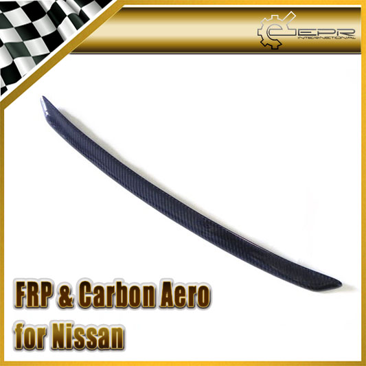 EPR Car Styling For Nissan Skyline R32 GTR GTS Carbon Fiber Nismo Style Hood Lip Glossy Fibre Finish Bonnet Trim Accessories