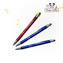 600Pc Free Shipping Pen metal Ballpen Crystal Stylus Touch for company new year gifts can laser engraving logo