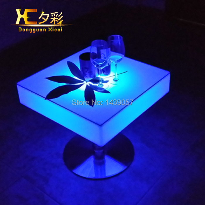 LED Bar Table Luminous Club Drinking Desk Color Changing Tables For Living Room Dining Room Garden Ceremony Wedding Party led luminous bar table plastic color changing coffee dining room garden drinking tables