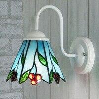 Mediterranean tiffany Mermaid mirror light fashion rustic Corridor Bedroom wall lamp