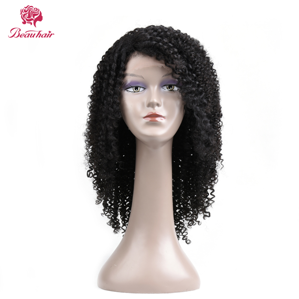 Curly Lace Front Human Hair Wigs For Black Women NonRemy Brazilian Lace Wig 120% Density Pre Plucked With Baby Hair Beau Hair