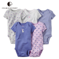 5Pcs Baby Clothing For Baby Girl Boy Bodysuit Short Sleeve Newborn Infant Jumpsuits Kids Summer Clothing Set Baby Clothes HK1206