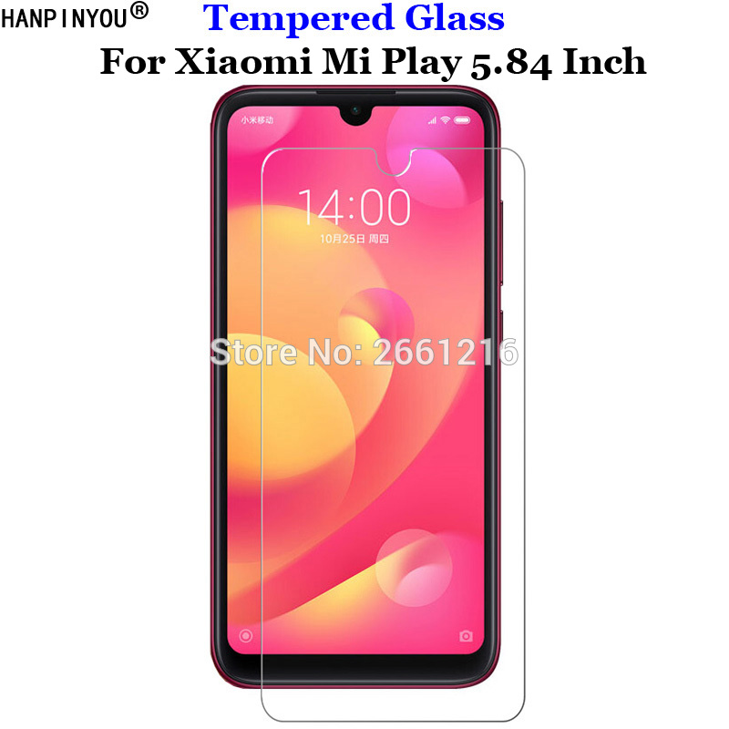For Xiaomi Mi Play 5.84 Tempered Glass 9H 2.5D Premium Phone Screen Protector Film