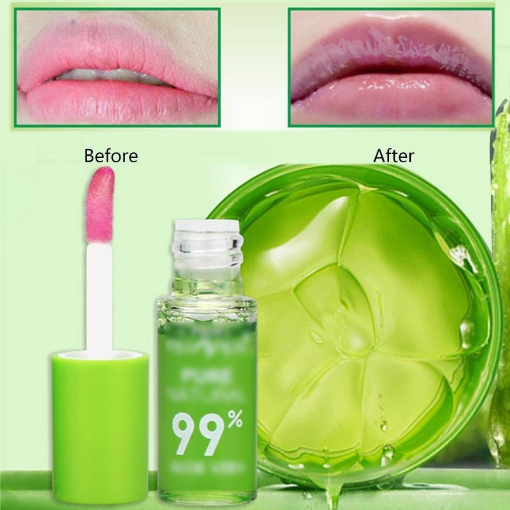 Aloe Vera Plant Transparent Natural Lip Gloss Moisturizer Glossy Makeup Nutritious Protect Lips Liquid Lipgloss Women Make Up
