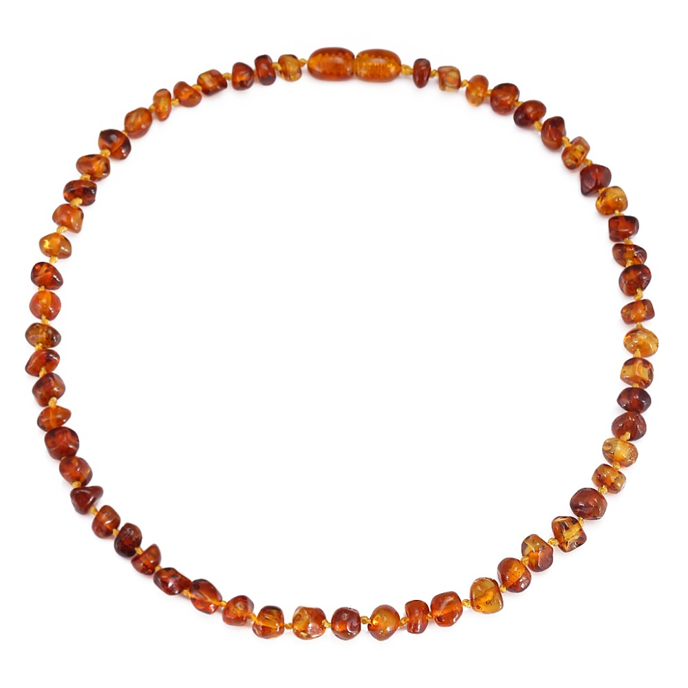 Amber Teething Necklace - DropShip - No invoice, no price, no logo - 7 Sizes - 4 Colors - Ship from US&UK&AU&CN