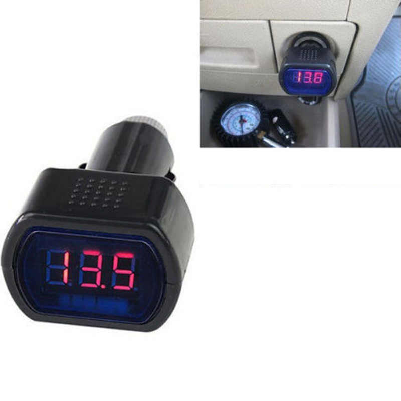 1pcs Digital LED Volt Gauge Mini 12V-24V Black Digital Red LED Display