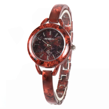 BEWELL Top Brand Germs Stone Watch for Women Round Dial Unique Luxury Design