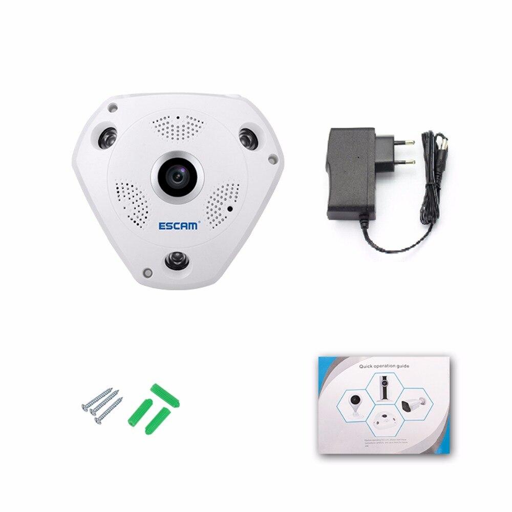 Mini caméra spéciale QP180 caméra panoramique 960 P HD Fisheye 360 degrés