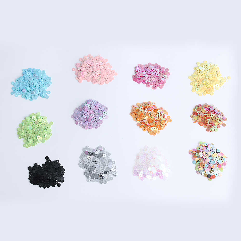 1000pcs/bag 4mm DIY crafts Multicolor Plastic Loose Sequins for Home Party wedding Decor Embellishment DIY sewing Accessories