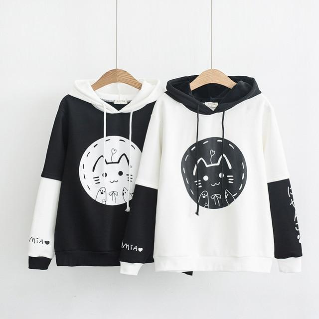 Kawaii Cat Harajuku Style Hoodie – Special Edition