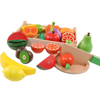 Wooden toys Cutting Fruit Vegetable Food Pretend Play Toy For Children Baby Educational Kitchen toys for kids girls