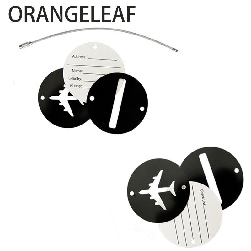 Aluminium Cirkel Bagage Labels Vliegtuig Vorm Gecontroleerd Instappen - Reisaccessoires - Foto 6