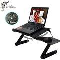 Cooler Mesa Dobrável Multi Funcional Laptop Ficar para Cama Sofá Portátil Refrigerador Portátil Notebook Mesa Mesa Ajustável + Mouse Pad
