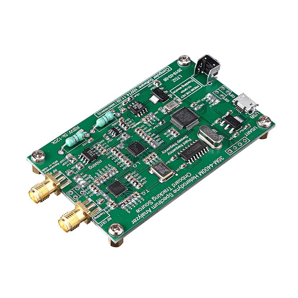 CLAITE Spectrum Analyzer USB Signal Source with Tracking Source Module RF Frequency Domain Analysis Tool 33mHz---4400mHz