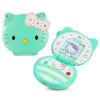 Bar Lovely Unlocked Cartoon Cat Small Women Kids Girls Diamond Bluetooth Dialer Cute Mini Cell Mobile
