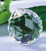 1pc Lot 80mm Glass Chandelier Faceted Ball Crystal Clear Faceted Ball Prism Suncatcher Feng Shui Crystal