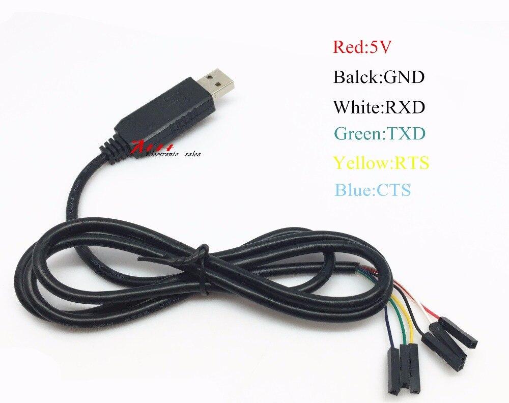 FT232 кисть линии USB к TTL серийный кабель Электрический адаптер FTDI чипсет компьютер FT232RL