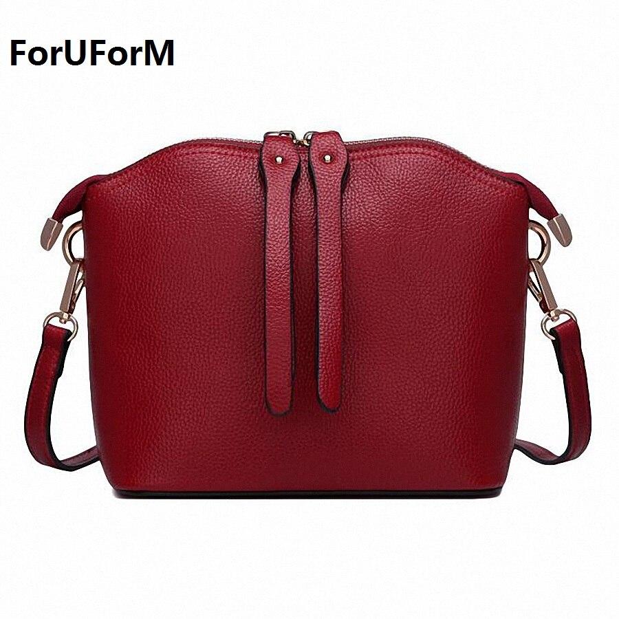 ForUForM New small shell handbags fashion female shoulder bag genuine leather cross body bags brand women