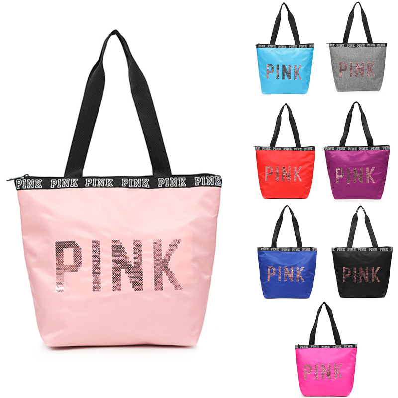 Oxford Womens PINK Multifunctional Outdoor Sport Bag Training Gym Bag Sports Handbag Bag ...