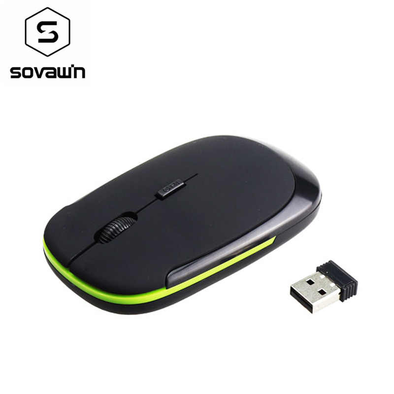 2.4Ghz Wireless Optical Mouse USB Receiver 1200 DPI Ultra Thin Slim Mini Wireless Ergonomically Mouse For Laptop PC Video Game