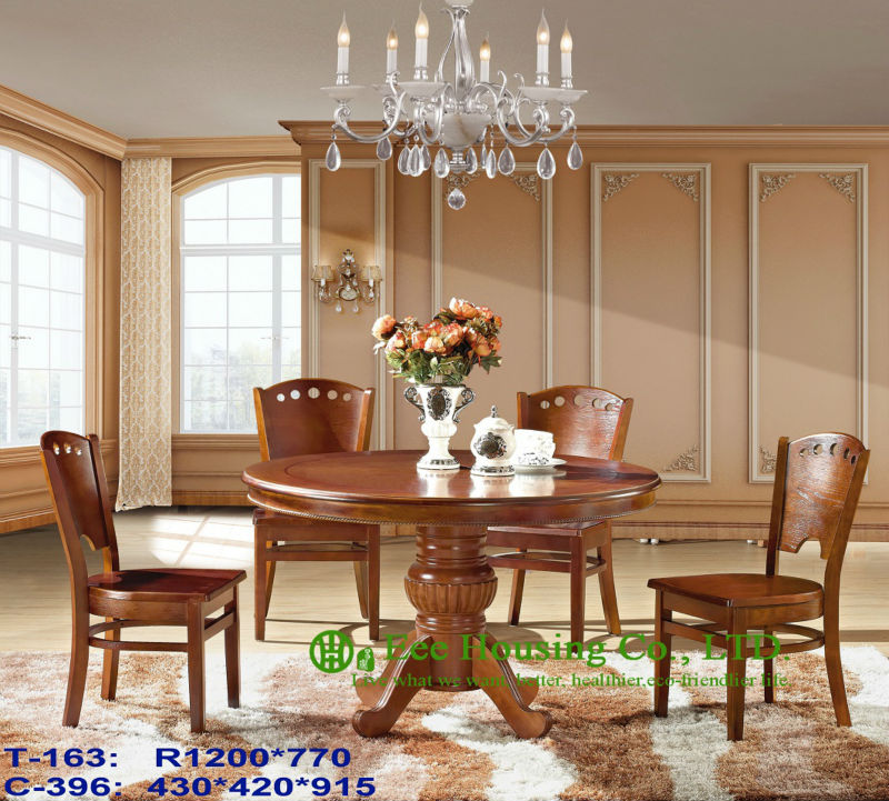 T-163,C-396  Luxurious Solid Dining Chair,Solid Wood Dinning Table Furniture With Chairs/Home Furniture