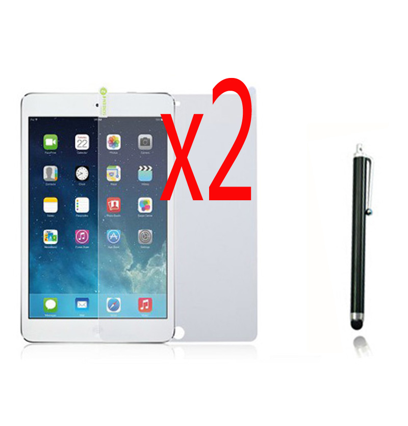 3in1 2x LCD Clear Screen Protector Film Guards +1x Stylus For Apple Ipad Air 1 2 3 10.5 9.7 Pro 10.2 2019 Min1 2 3 4 5