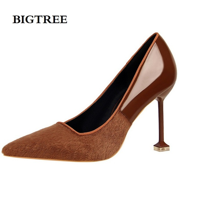 29e6b742aa pumps women shoes high heels sexy Fine with red high-heeled mouth pointed  lacquer touch color green shoes