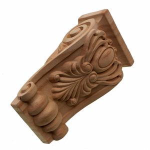 Image 3 - Unpainted VZLX Vintage Madeira Esculpida Onlay Canto Applique Porta Do Armário Quadro Fundo Da Parede de Casa Decoração Artesanato Mobiliário Pernas
